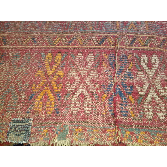 19th Century Moroccan Village Rug - 5′10″ × 14′5″ For Sale - Image 10 of 13
