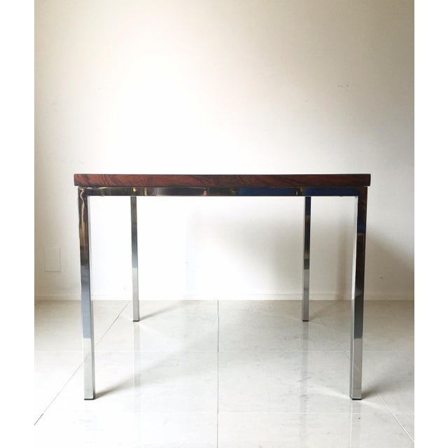 FLorence Knoll Floating Top Rosewood Table For Sale - Image 5 of 6