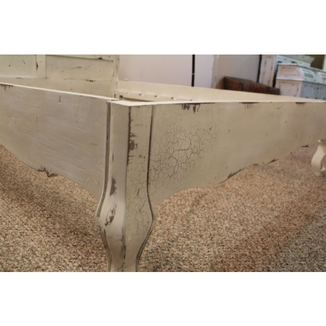 French Country Distressed Queen Bed For Sale - Image 11 of 11