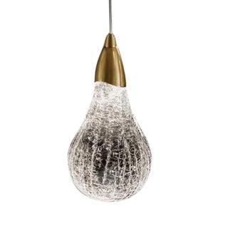 Crackle Glass Pear Single Light For Sale