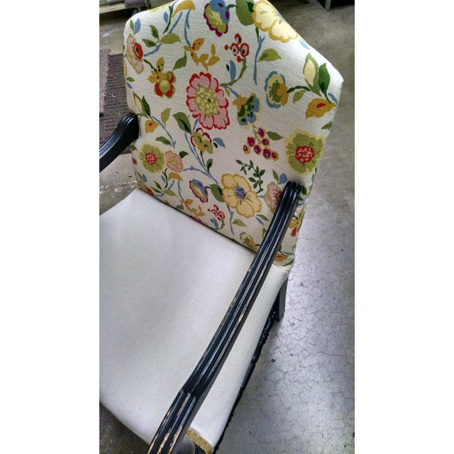 Vintage French Floral Accent Chair - Image 3 of 8