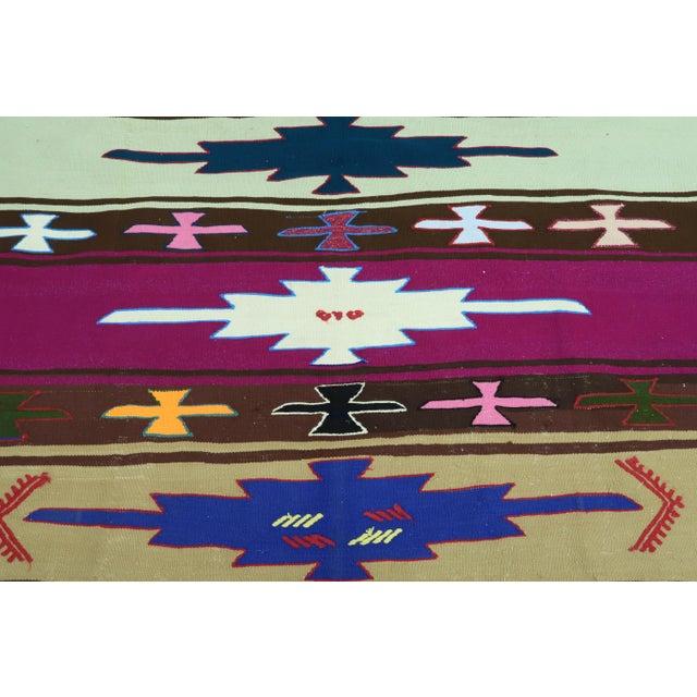 Late 20th Century Vintage Turkish Kilim Rug For Sale - Image 5 of 13