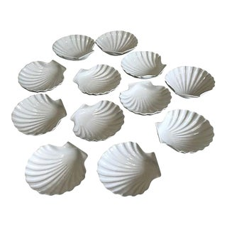 French Shell Serving Plates - Set of 12 For Sale