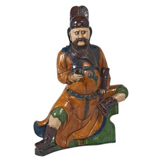 Chinese Ming Guardian Roof Tile Sculpture For Sale