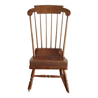Antique Primitive Rocking Chair For Sale