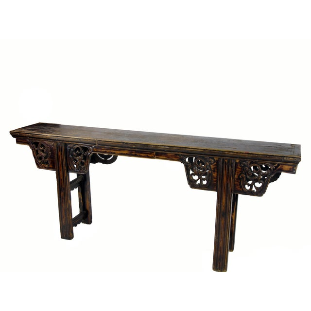 Asian Antique Chinese Console Table For Sale - Image 3 of 8