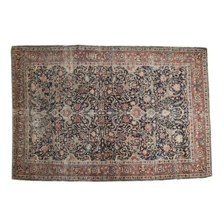 "Antique Fine Tabriz Rug - 4'10"" X 7'2"""