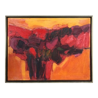 1968 Vintage Modern Abstract Painting