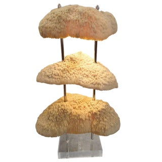Custom Three-Tier Artful Coral Lamp For Sale