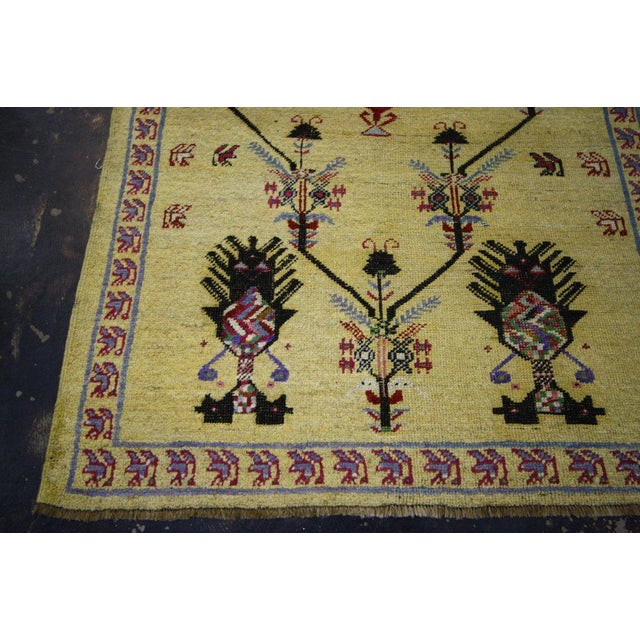 Vintage Turkish Oushak Rug with Modern Style, Yellow Oushak Rug For Sale In Dallas - Image 6 of 10