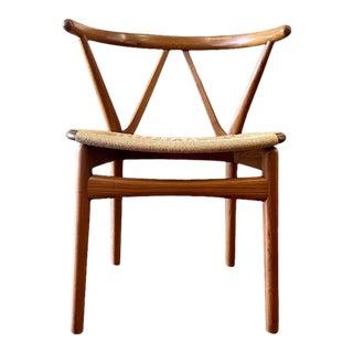 Danish Teak Side Dining Chair by Henning Kjaernulf for Bruno Hansen For Sale