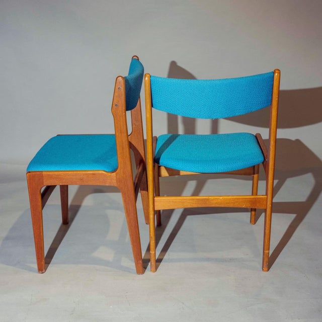 Vintage Mid-Century Curated Teak Dining Chairs - Set of 4 For Sale - Image 4 of 5