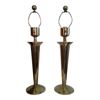 Stiffel Northbrook Solid Brass Lamps - a Pair For Sale