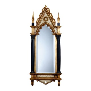 Gothic Solid Wood Mirror For Sale