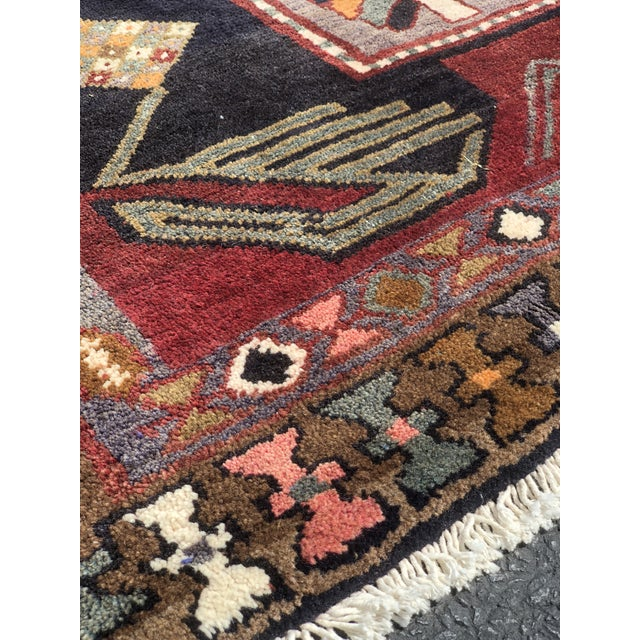 "1950s 1950s Art Deco Persian Meshkin Wool Runner - 3'8""x11'7"" For Sale - Image 5 of 13"