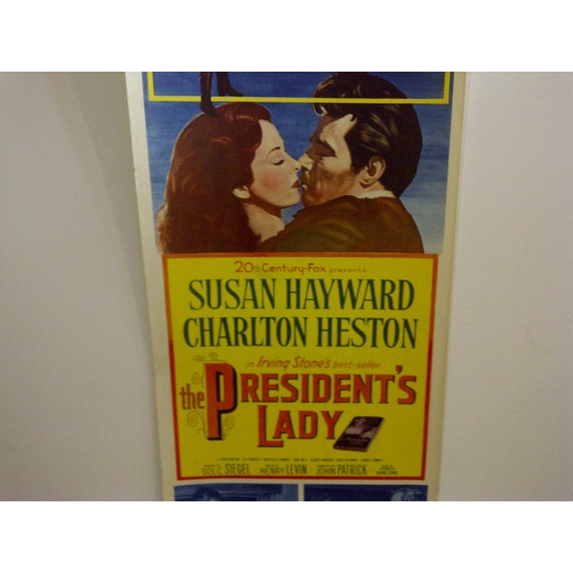 """Vintage Movie Poster """"The Presidents Lady"""" Charlton Heston - 1953 For Sale In Pittsburgh - Image 6 of 7"""