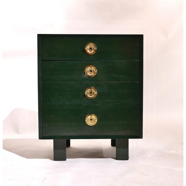 Herman Miller George Nelson for Herman Miller Green Lacquer Pier Chests or Dressers - a Pair For Sale - Image 4 of 8