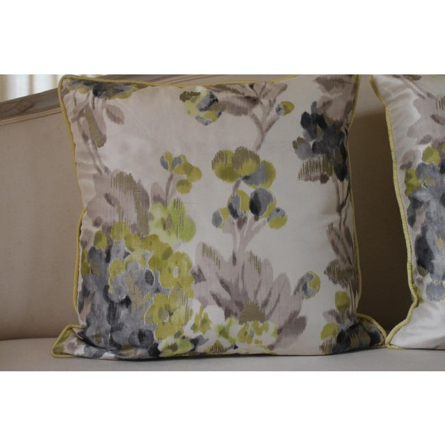 English Designers Guild Rosmond Pattered Pillows - a Pair For Sale - Image 3 of 8