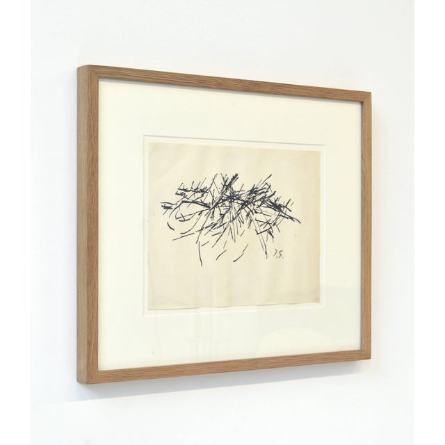 Abstract Framed Vintage Abstract Drawing by Jacques Germain For Sale - Image 3 of 4