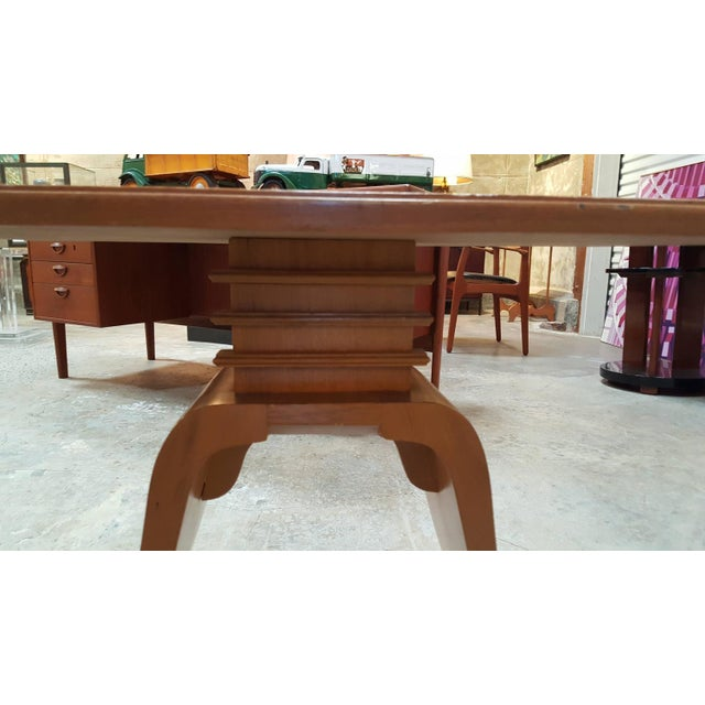 """Frankl Golden Mahogany """"Bell"""" Side Table - Pair - Image 5 of 9"""