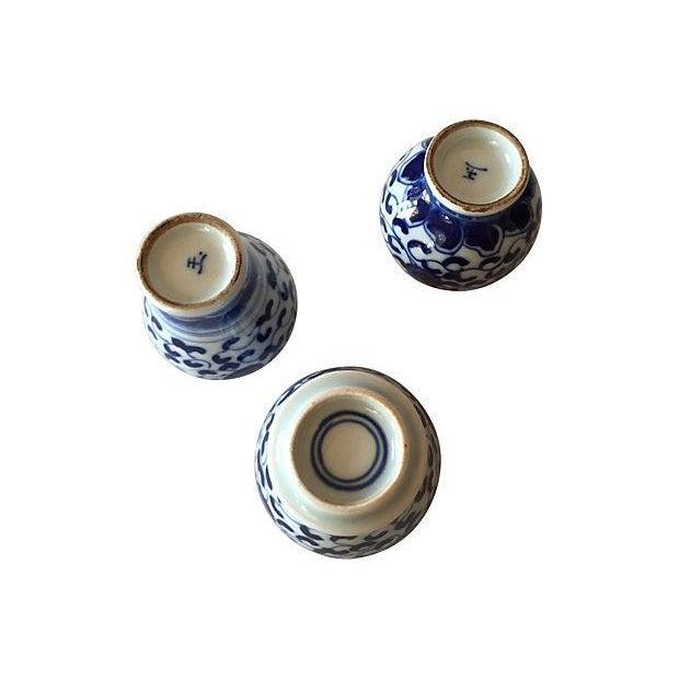 Chinese Blue & White Porcelain Bottles - Set of 3 - Image 4 of 5