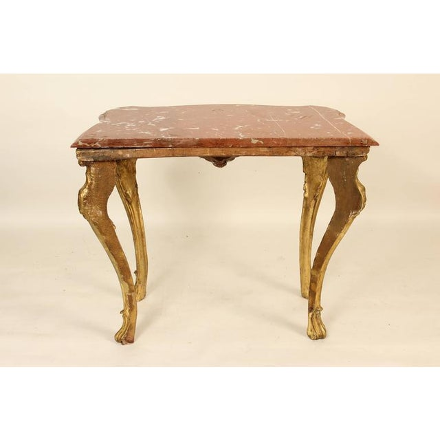 18th Century Louis XV Giltwood Console Table For Sale - Image 10 of 11