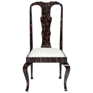 1980s Chippendale Horn Chair by Enrique Garces For Sale