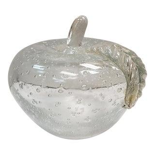 Circa 1970 Italian Murano Glass Bullicante Gold Flecks Apple Sculpture Attributed to Alfredo Barbini For Sale