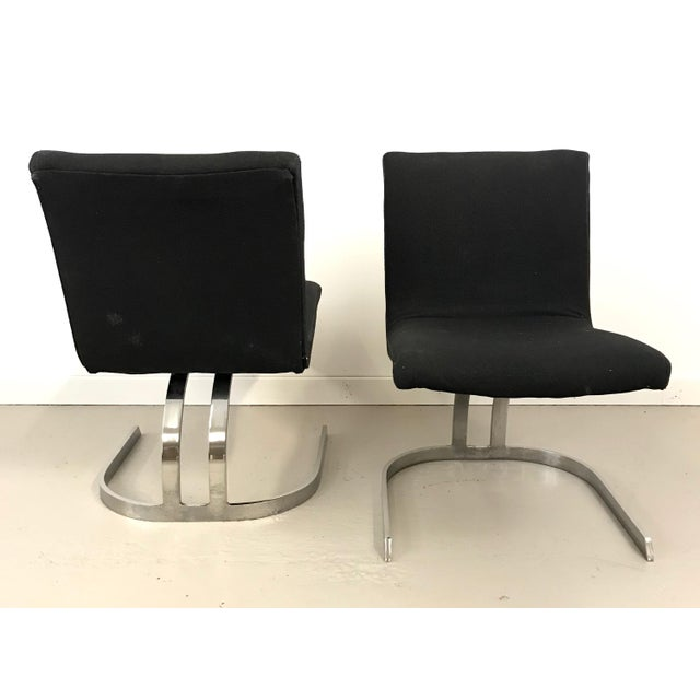 Pair of Cantilevered Scimitar Base Chairs For Sale In New York - Image 6 of 8