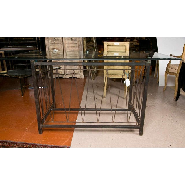 A Deigo Giacometti Style Metal Base Desk For Sale - Image 5 of 8