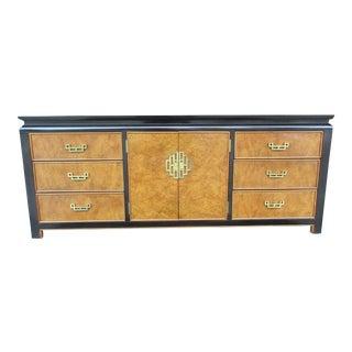 Century Furniture Chin Hua Burlwood Nine Drawer Dresser For Sale