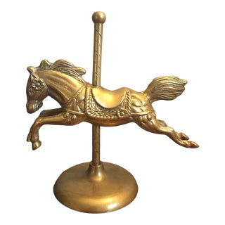 Brass Carousel Horse Figurine For Sale