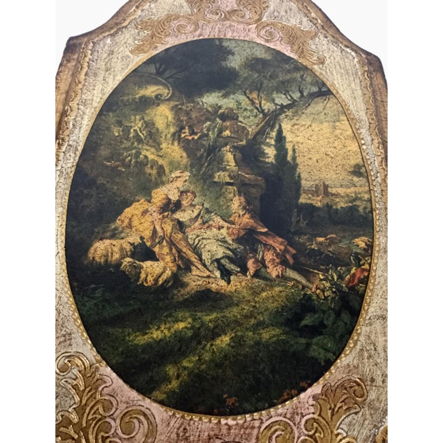 Boucher Italian Hand Carved Wood Framed Prints - a Pair For Sale - Image 4 of 13