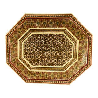 Anglo-Persian Octagonal Mosaic Khatam Inlaid Box For Sale