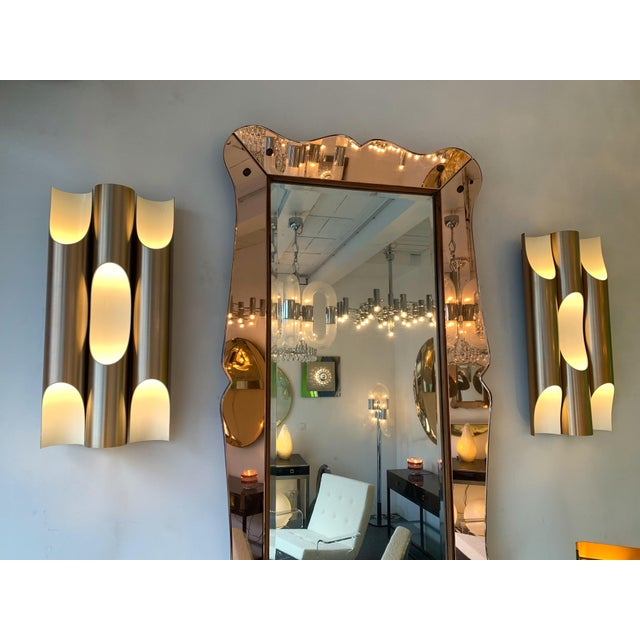 Pair of Maxi Fuga Sconces Gilt Metal by Komulainen for Raak Amsterdam. 1970s For Sale - Image 10 of 12