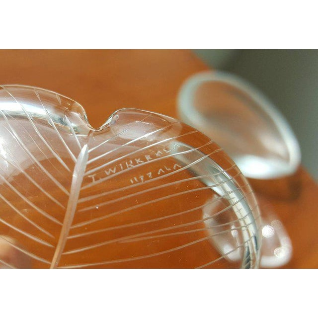 1960s Vintage Scandinavian Tapio Wirkkala Glass Leaf Collection For Sale - Image 5 of 7