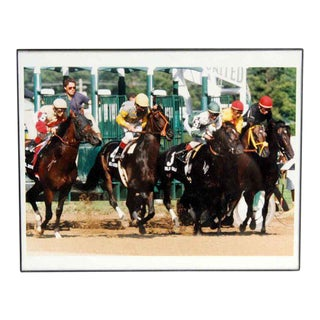 Vintage Framed Horse Racing Photo For Sale
