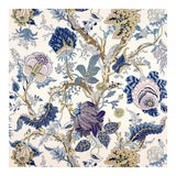 Image of Schumacher Indian Arbre Fabric in Hyacinth For Sale