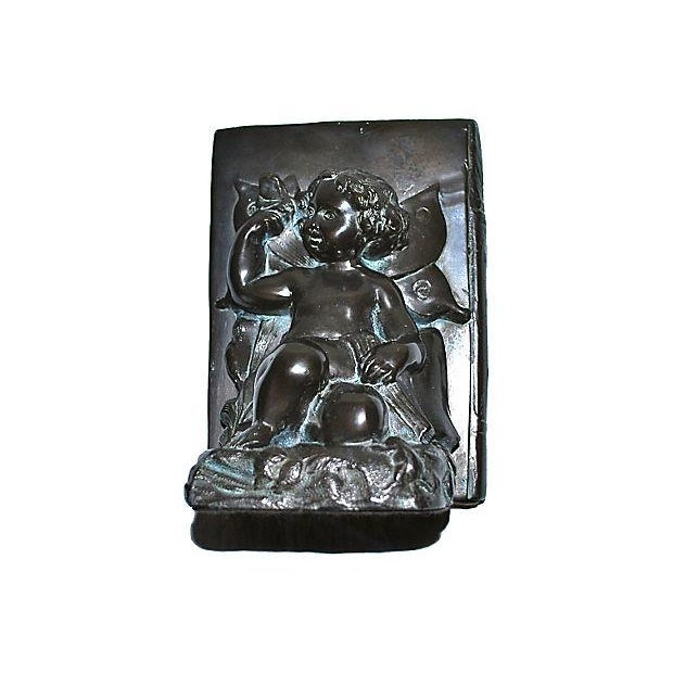 1920s Ronson Cherub and Butterfly Bookends - Pair For Sale - Image 5 of 7
