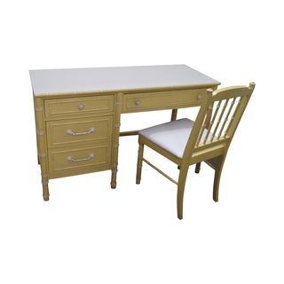 Thomasville Hollywood Regency Faux Bamboo Desk