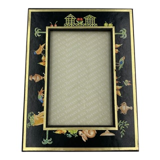 1980s Tiffany & Co. Photo Frame in the Black Shoulders Pattern For Sale