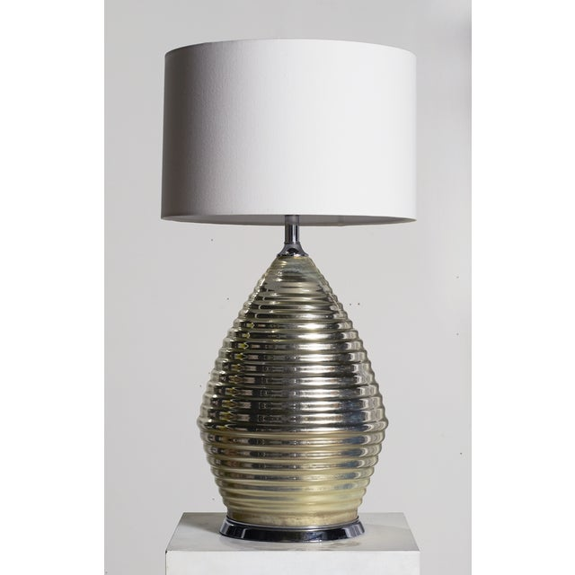 Modern Large Honeycomb Mercury Glass Lamp For Sale - Image 3 of 5