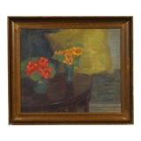 Image of 1910 Impressionist Oil Painting of a Still Life by Sigurd Boeck For Sale