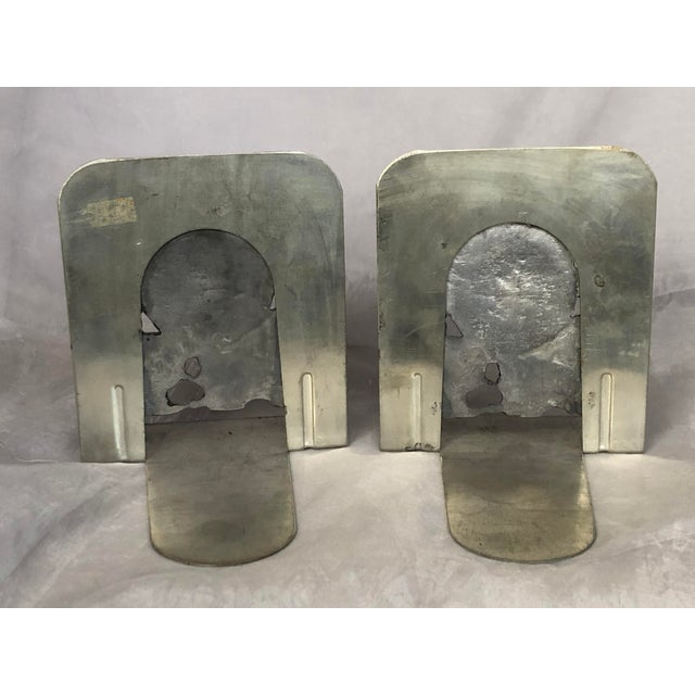 Gray Vintage 1970s Metal Sand Dollar Bookends - a Pair For Sale - Image 8 of 11