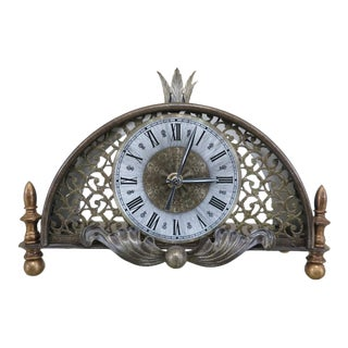 French Style Decorative Metal Mantle Clock