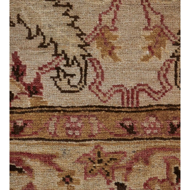 Handwoven Revival Agra Style Wool Rug For Sale - Image 12 of 13
