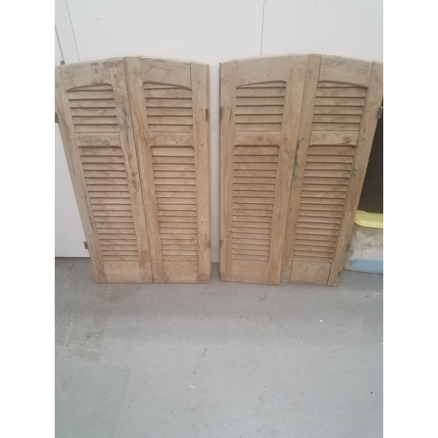 Two Pairs Antique Shutters - Curved at the Top When we find a pair of shutters that are curved at the top, we get them....