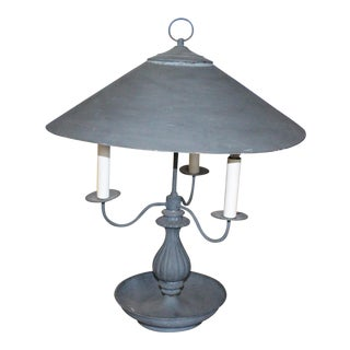 Early 20th Century Painted Brass Industrial Lamp For Sale