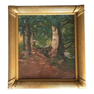 Hammock Between the Trees, by Listed Artist M. E. Evans For Sale