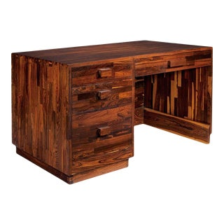 Solid Mexican Cocobolo Wood Desk Don Shoemaker For Sale
